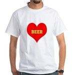 iHeart Beer White T-Shirt