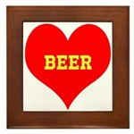 iHeart Beer Framed Tile