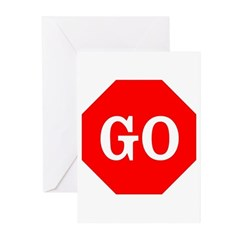 Go Stop Sign Greeting Cards (Pk of 10)