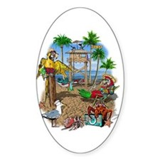 Parrot Beach Party Decal