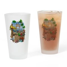 Parrot Beach Party Drinking Glass