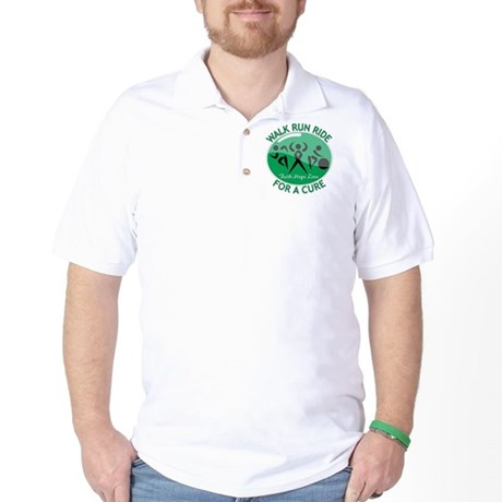 Liver Cancer Walk Run Golf Shirt