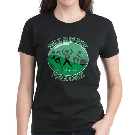 Liver Cancer Walk Run Women's Dark T-Shirt