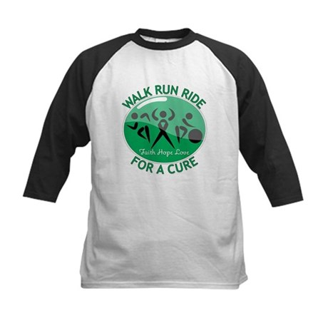 Liver Cancer Walk Run Kids Baseball Jersey