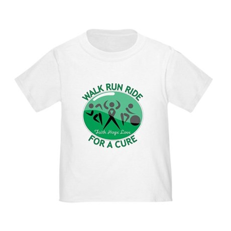 Liver Cancer Walk Run Toddler T-Shirt
