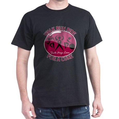 Myeloma Walk Run Ride Dark T-Shirt
