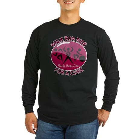 Myeloma Walk Run Ride Long Sleeve Dark T-Shirt