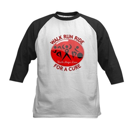 Heart Disease Walk Run Ride Kids Baseball Jersey