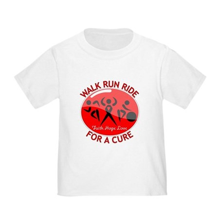Heart Disease Walk Run Ride Toddler T-Shirt
