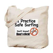 Safe Surfing Tote Bag