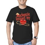 Mackenzie Lassoed My Heart Men's Fitted T-Shirt (d