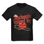 Mackenzie Lassoed My Heart Kids Dark T-Shirt