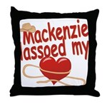 Mackenzie Lassoed My Heart Throw Pillow