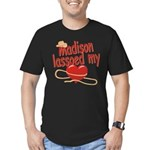 Madison Lassoed My Heart Men's Fitted T-Shirt (dar