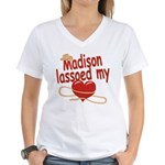 Madison Lassoed My Heart Women's V-Neck T-Shirt