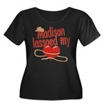 Madison Lassoed My Heart Women's Plus Size Scoop N