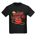 Madison Lassoed My Heart Kids Dark T-Shirt