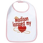 Madison Lassoed My Heart Bib