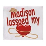 Madison Lassoed My Heart Throw Blanket
