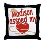 Madison Lassoed My Heart Throw Pillow