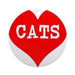I Heart Cats Ornament (Round)