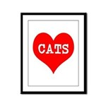 I Heart Cats Framed Panel Print