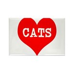I Heart Cats Rectangle Magnet (10 pack)