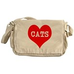 I Heart Cats Messenger Bag