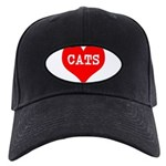 I Heart Cats Black Cap