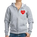 I Heart Cats Women's Zip Hoodie