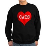 I Heart Cats Sweatshirt (dark)