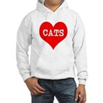 I Heart Cats Hooded Sweatshirt