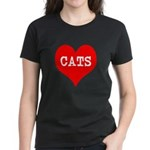 I Heart Cats Women's Dark T-Shirt