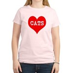 I Heart Cats Women's Light T-Shirt