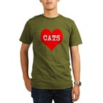 I Heart Cats Organic Men's T-Shirt (dark)