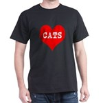 I Heart Cats Dark T-Shirt