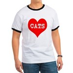 I Heart Cats Ringer T