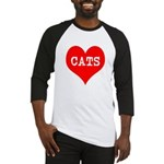 I Heart Cats Baseball Jersey