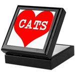 I Heart Cats Keepsake Box