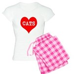 I Heart Cats Women's Light Pajamas