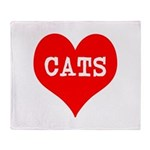 I Heart Cats Throw Blanket