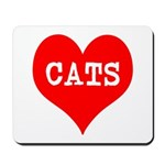 I Heart Cats Mousepad