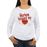 Marlene Lassoed My Heart Women's Long Sleeve T-Shi