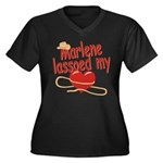 Marlene Lassoed My Heart Women's Plus Size V-Neck