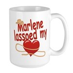 Marlene Lassoed My Heart Large Mug
