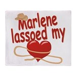 Marlene Lassoed My Heart Throw Blanket