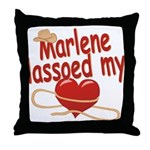 Marlene Lassoed My Heart Throw Pillow
