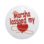Marsha Lassoed My Heart Ornament (Round)