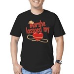 Marsha Lassoed My Heart Men's Fitted T-Shirt (dark
