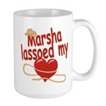 Marsha Lassoed My Heart Large Mug